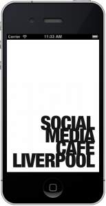 Social media Cafe iPhone app
