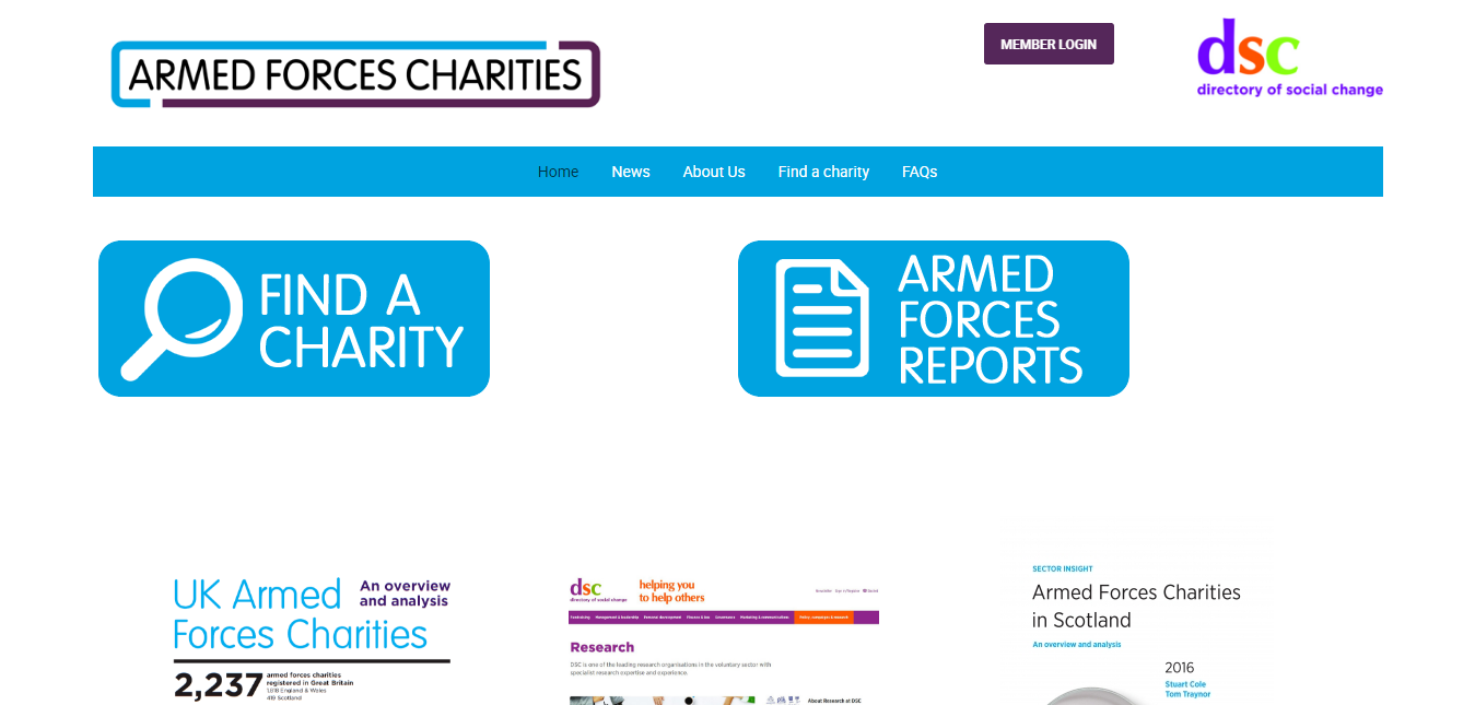 Responsive professional websites for National Charities and third sector organisations