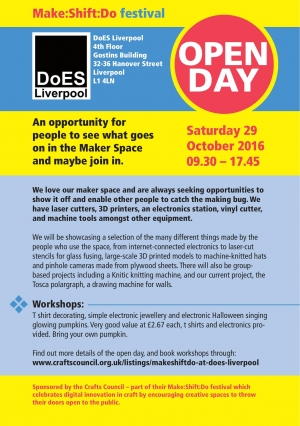 Make Shift Do @DoesLiverpool on Saturday 29th October