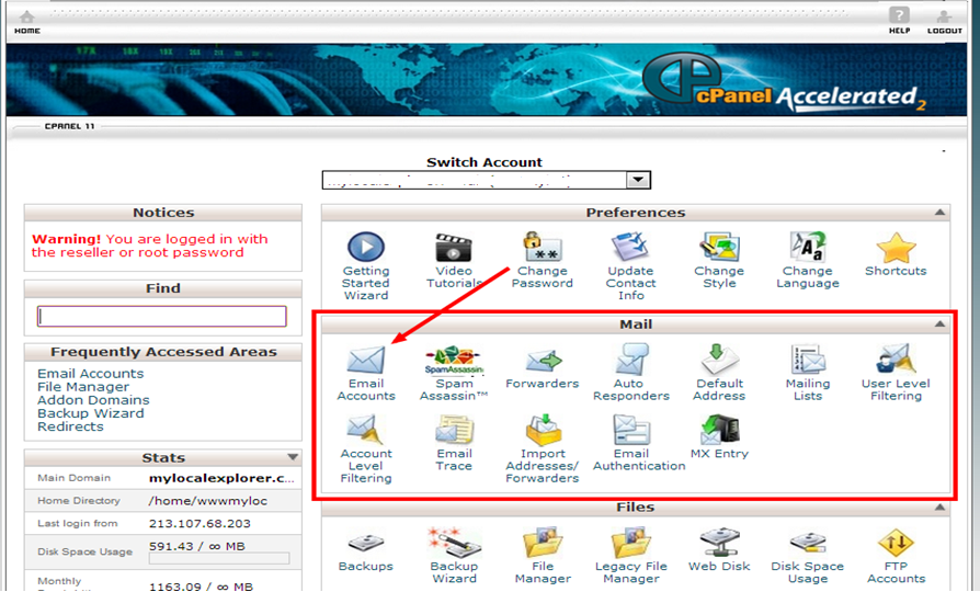 cpanel email2