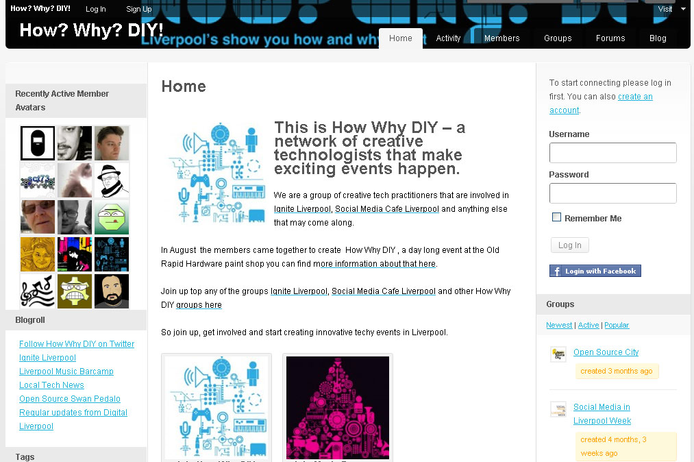 How Why Diy creative tech network website