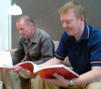 Leo Fitzmaurice and Paul Rooney at the Launch of Wrongteous
